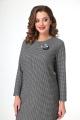 Платье T&N 7114 серый_лапка