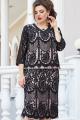 Платье Vittoria Queen 13763 черный-розовый