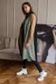 Платье Madech 215375 черный,охра,хаки
