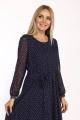 Платье Danaida 2068 синий/белый_горошек