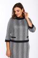 Платье Lady Style Classic 1505/1 серый_черный