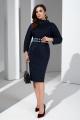 Платье Lissana 4378 темно-синий
