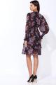 Платье Faufilure С1214 черный-сирень