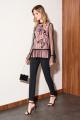 Блуза Nelva 22005 черный+персик