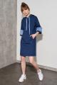 Платье Nelva 51051 синий_ меланж