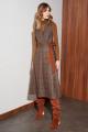 Платье Nelva 51063 коричневый_клетка
