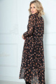 Платье LeNata 11235 черное-в-рисунок