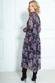 Платье LeNata 11235 черное-в-цветы