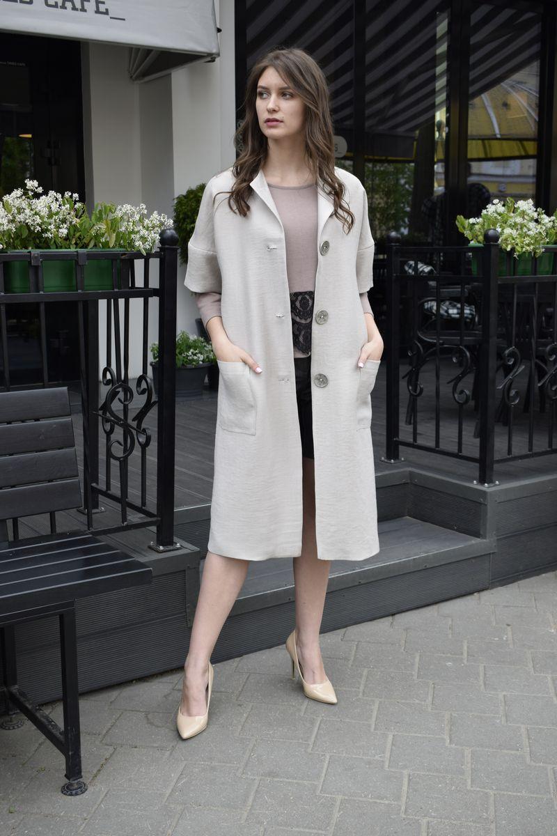 пальто AMORI 2082 серый