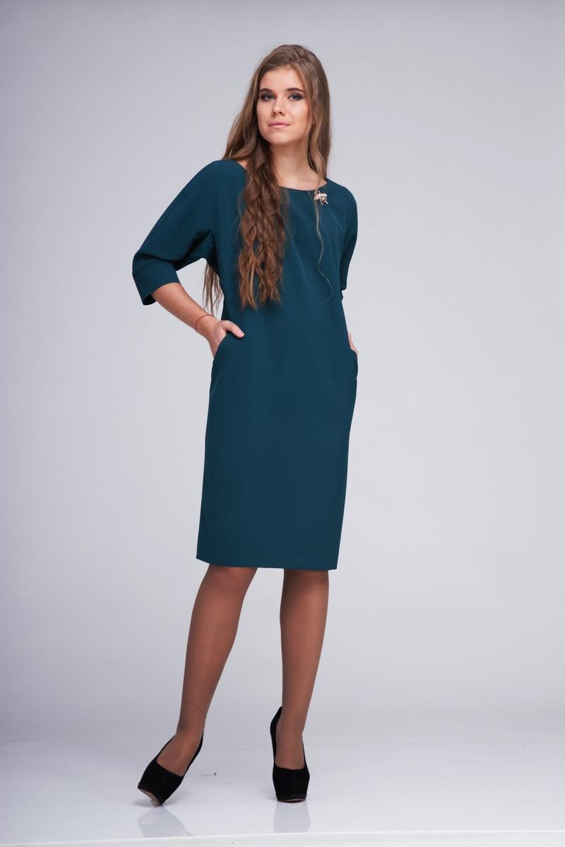 платье AMORI 9172 сине-зеленый