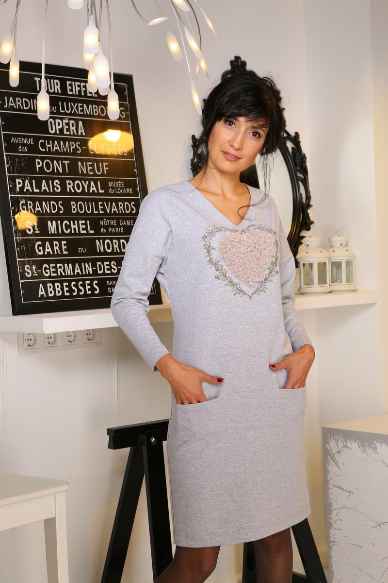платье AMORI 9170 светло-серый