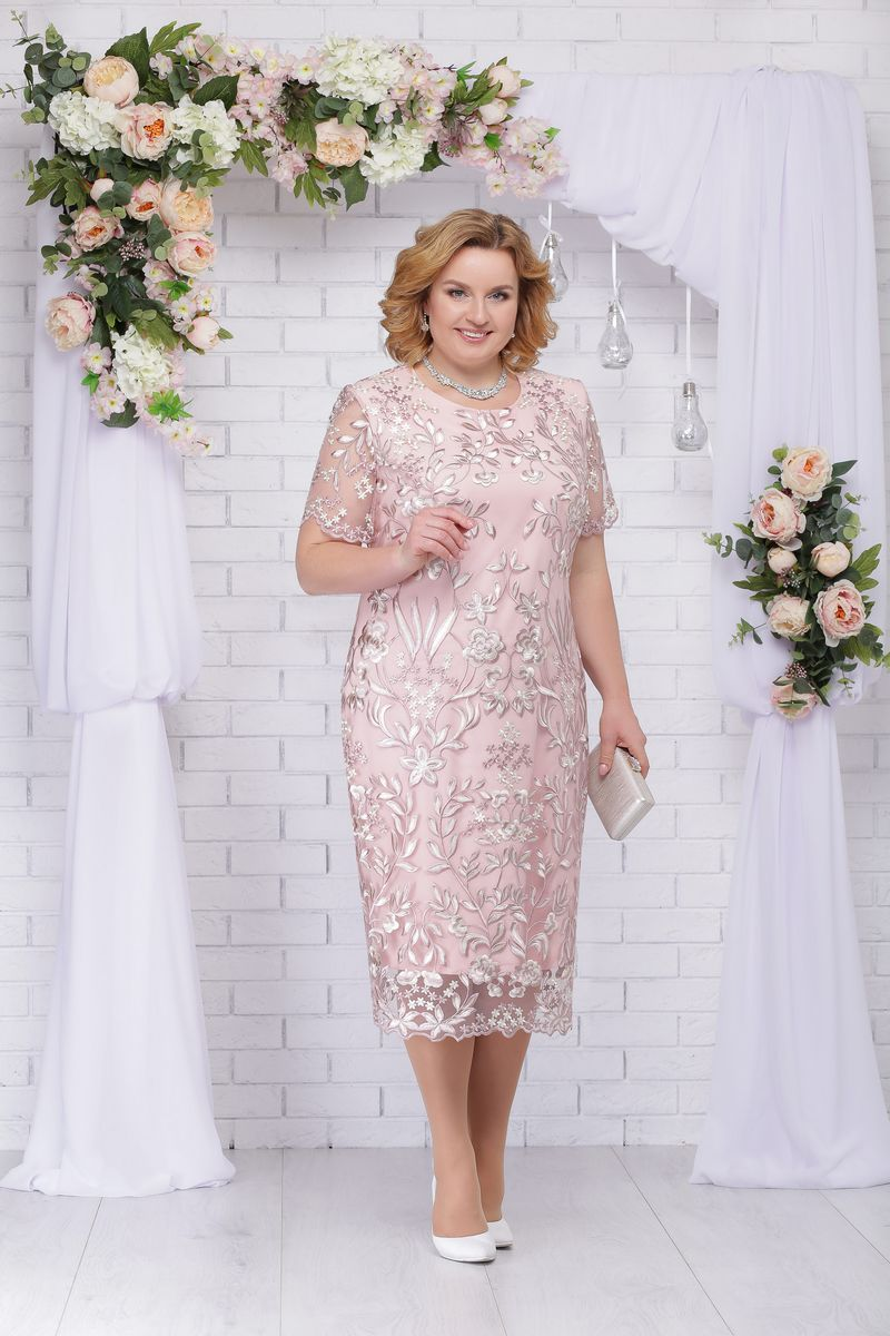 платье Ninele 7231 пудра