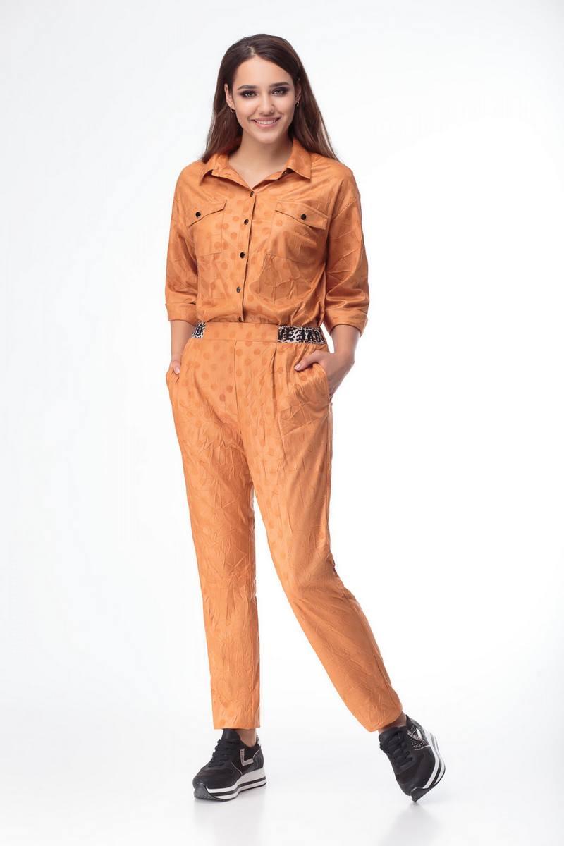 брюки,  рубашка Luana Plus 109 рыжий