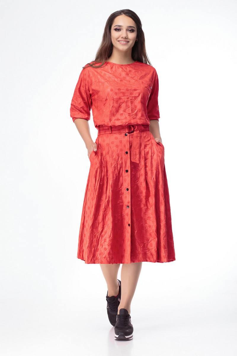 блуза,  юбка Luana Plus 108 красный