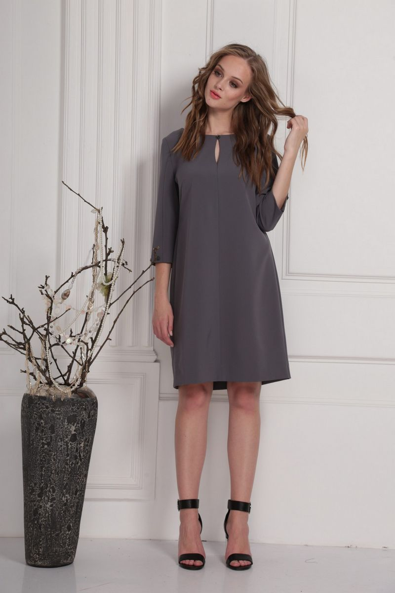 платье AMORI 9413 серый