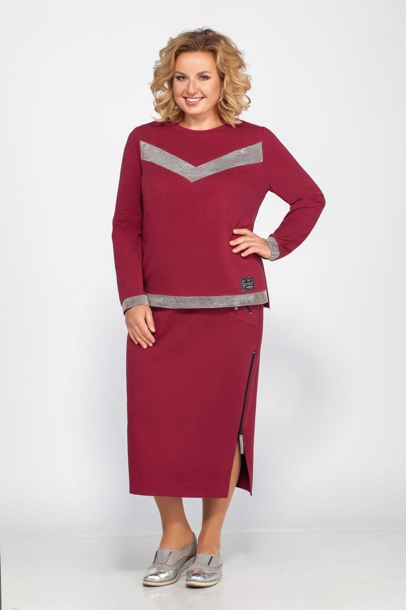блуза,  юбка Bonna Image 454 бордо
