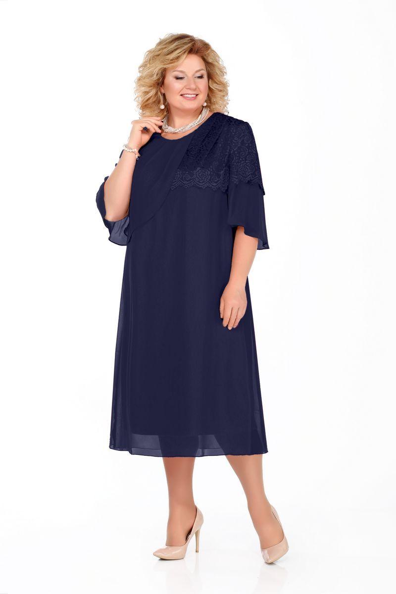 платье Pretty 924 т.синий