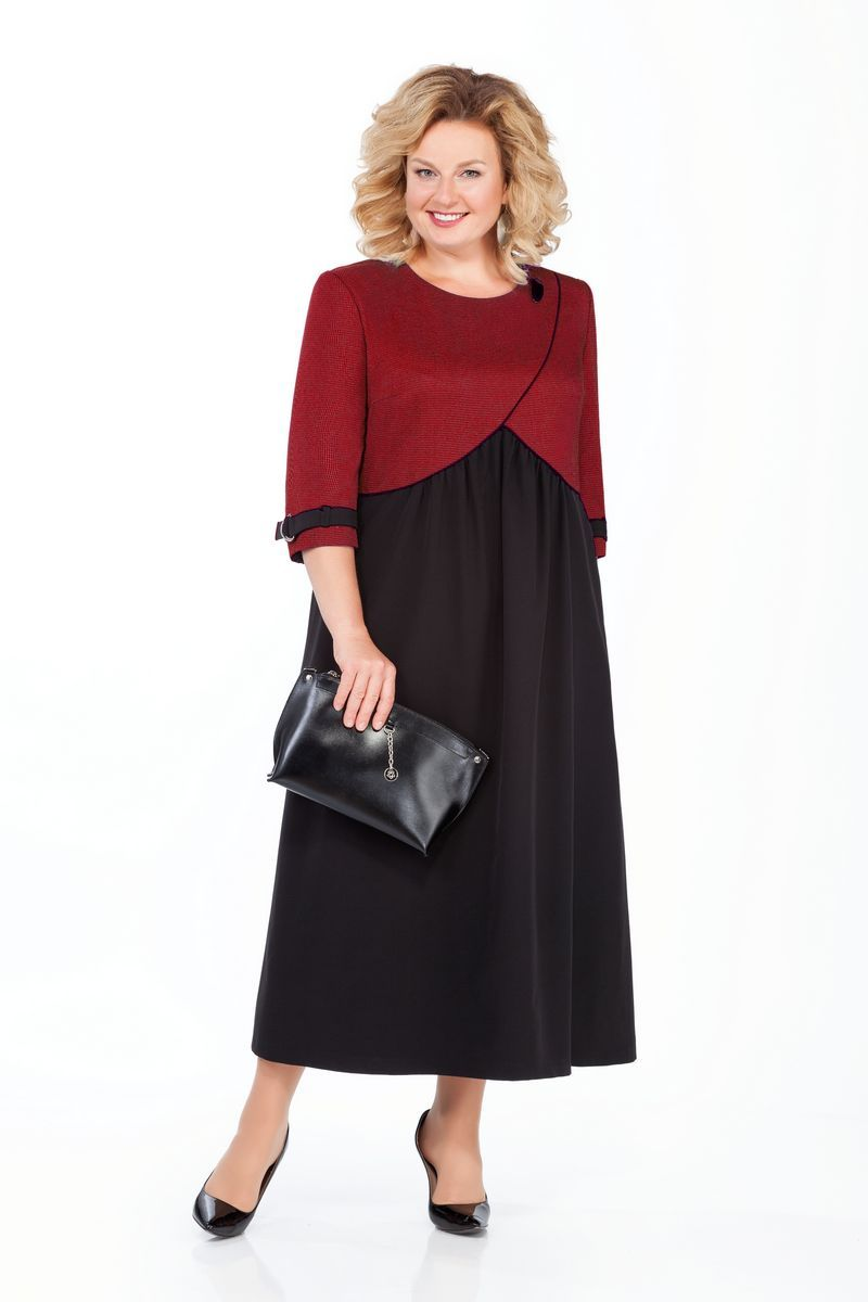 платье Pretty 926 черный-бордо