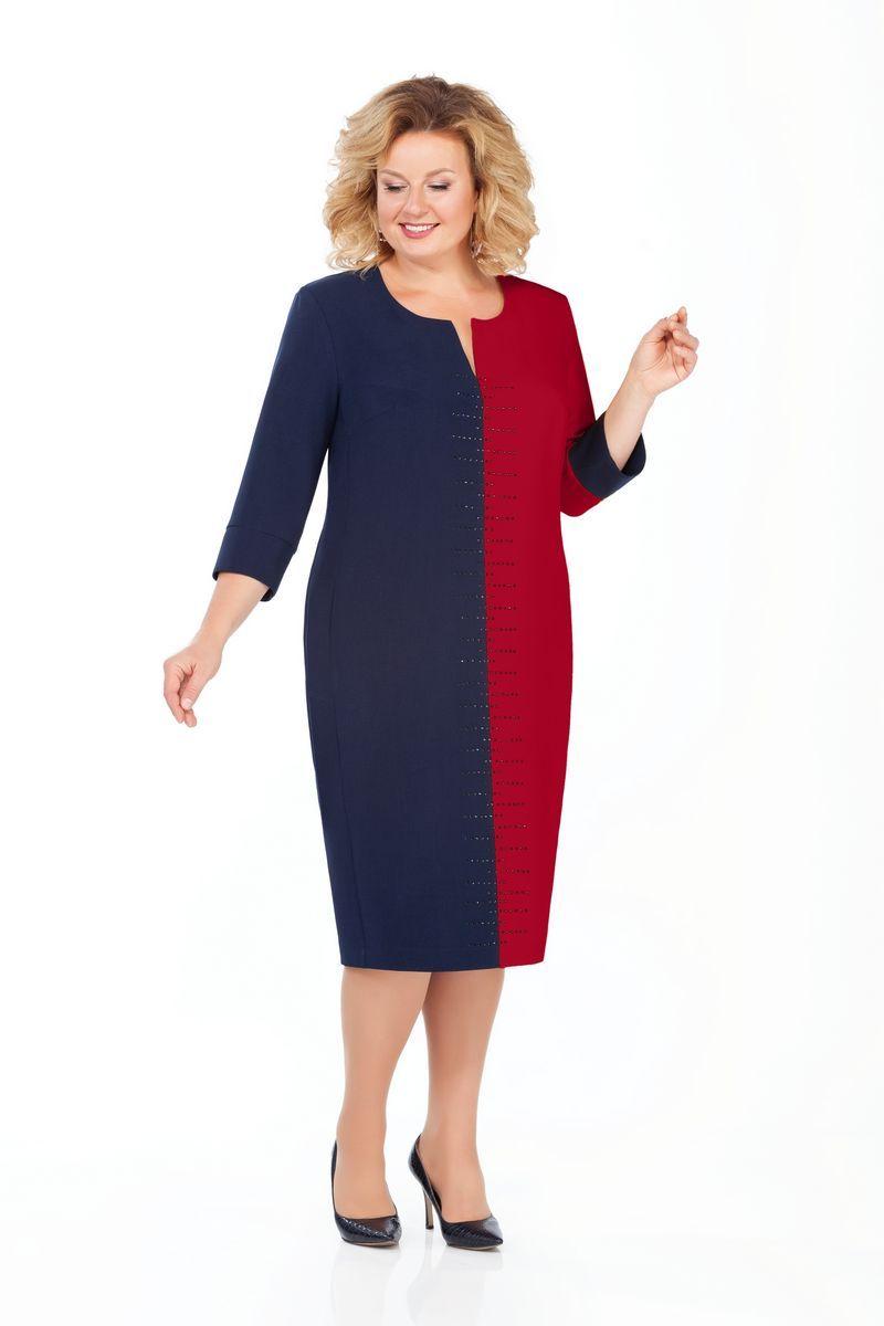 платье Pretty 930 т.синий-бордо