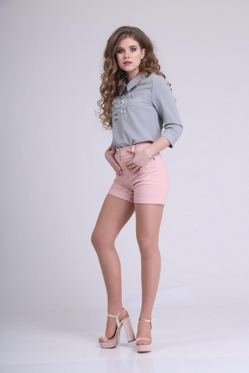 блуза AMORI 6016 серый