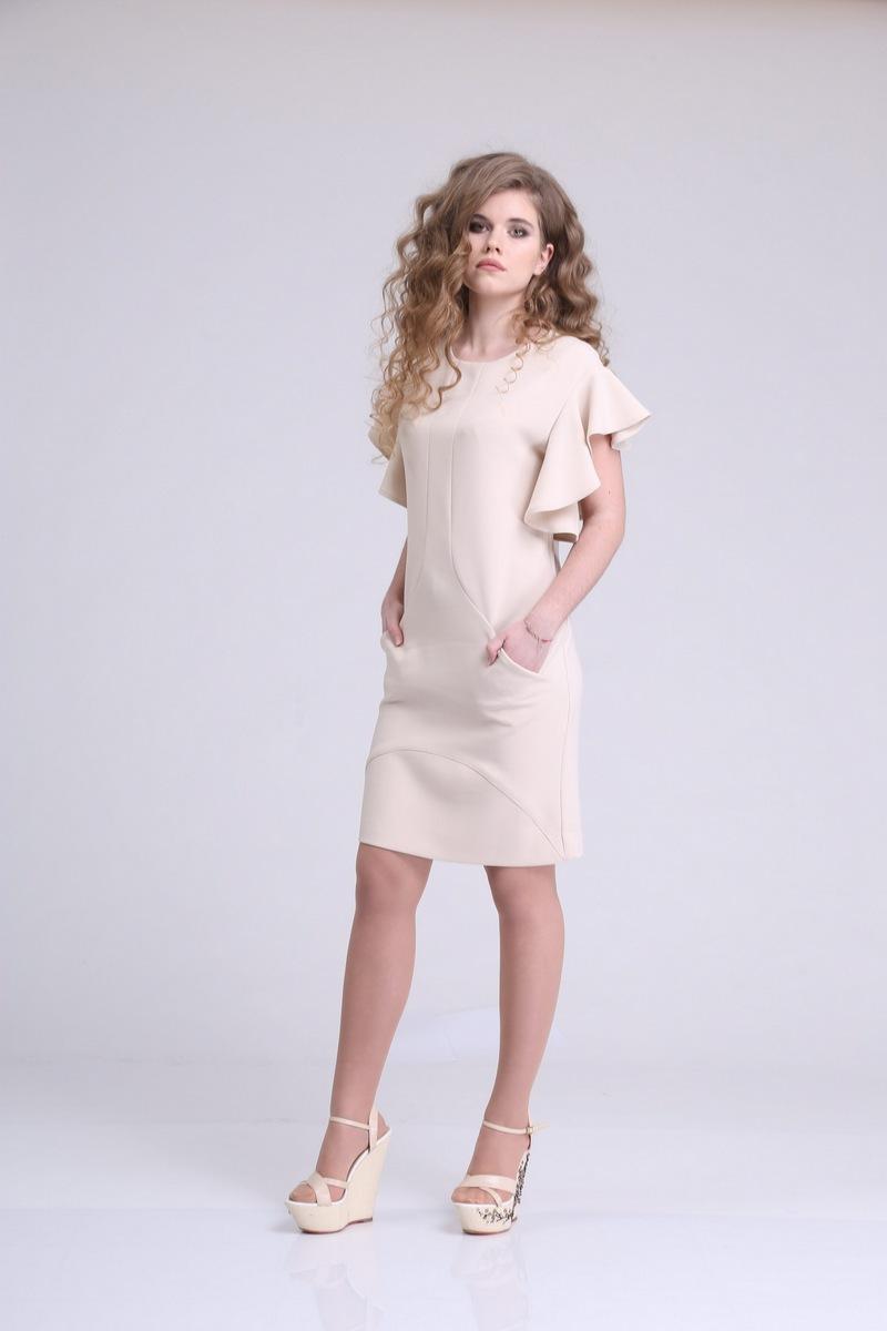 платье AMORI 9166 бежевый