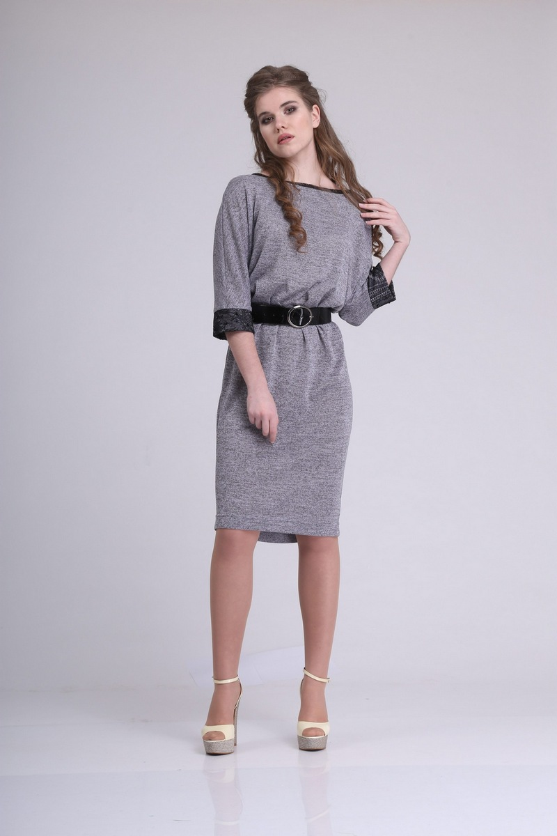 платье AMORI 9203 серый