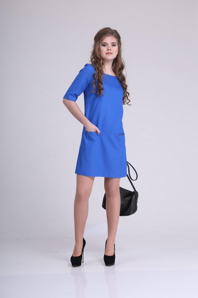 платье AMORI 9204 василек