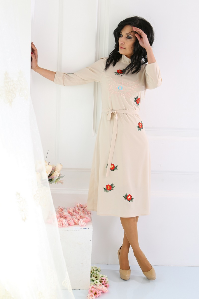 платье AMORI 9214 молочный