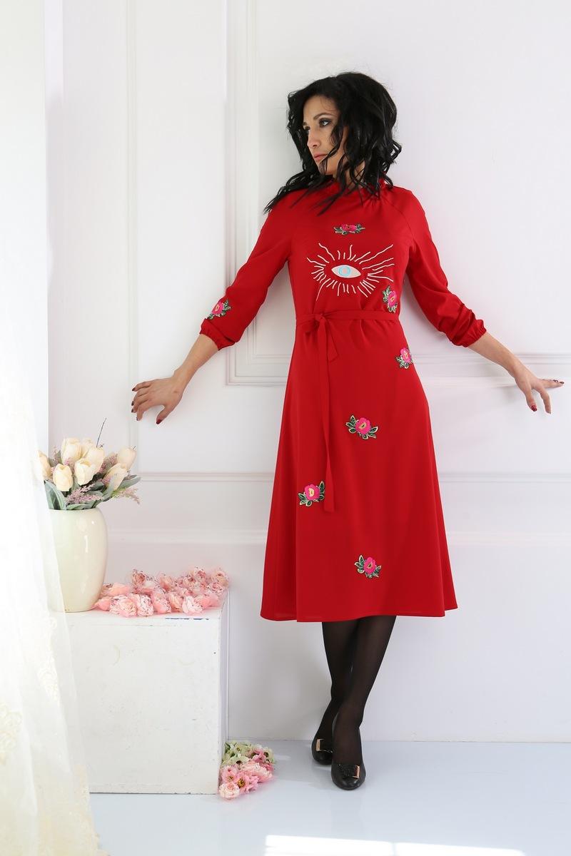 платье AMORI 9214 красный