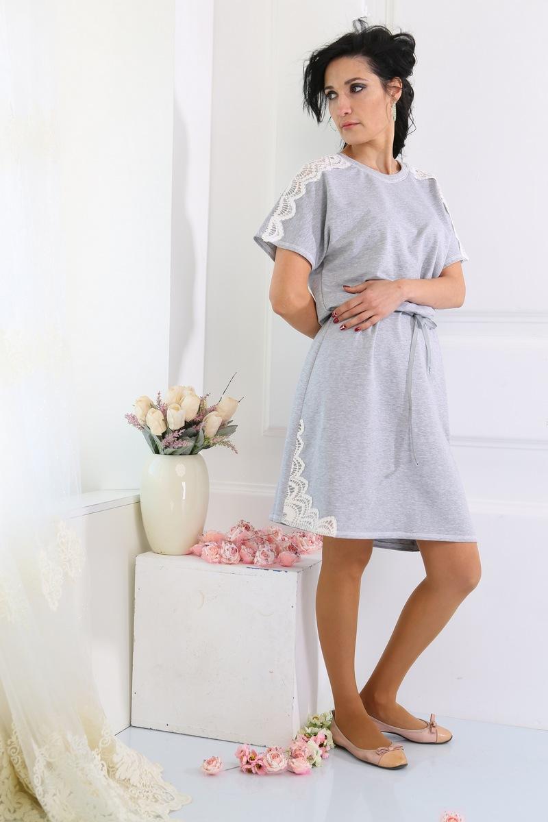 платье AMORI 9217 светло-серый
