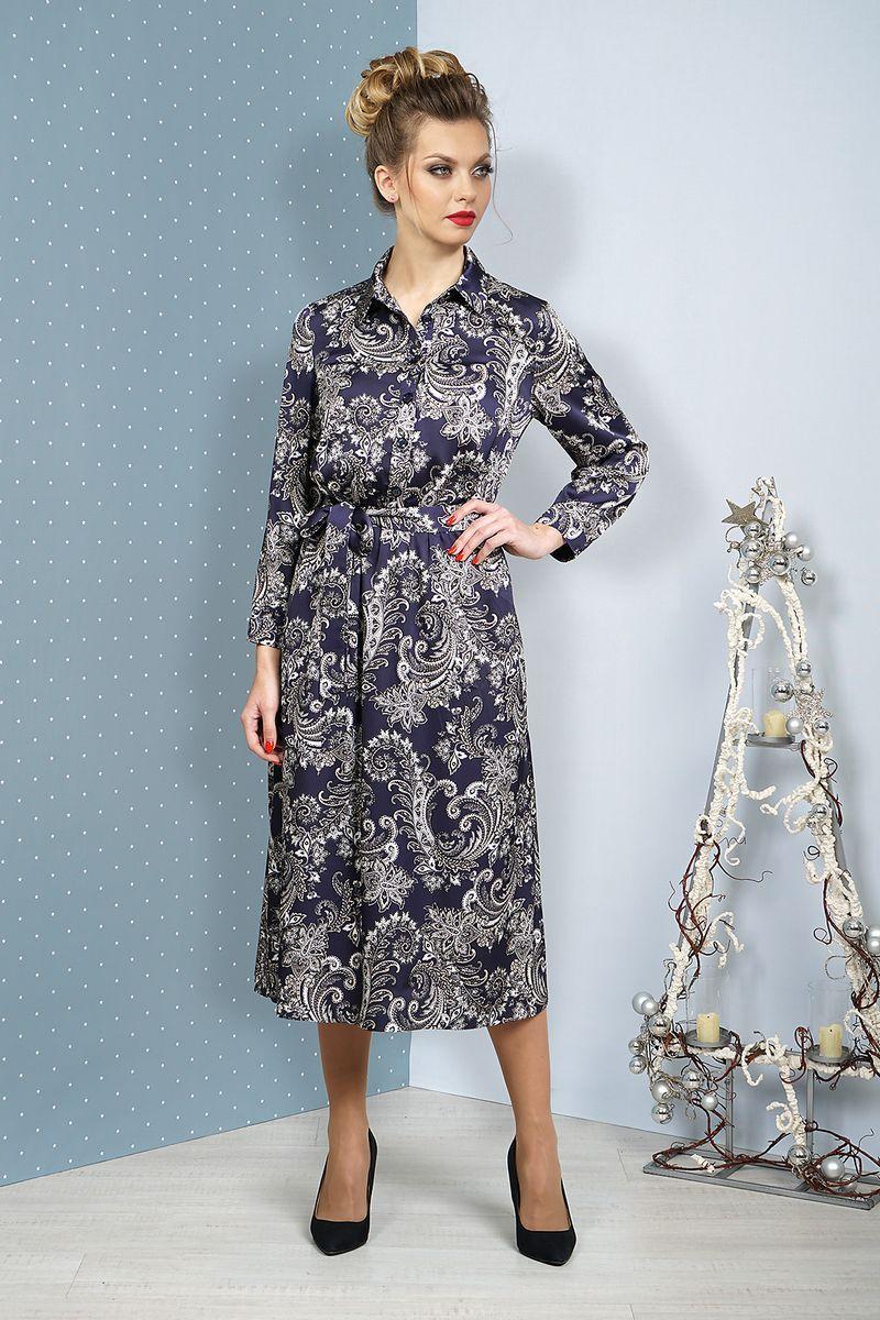платье Alani Collection 1074 синий