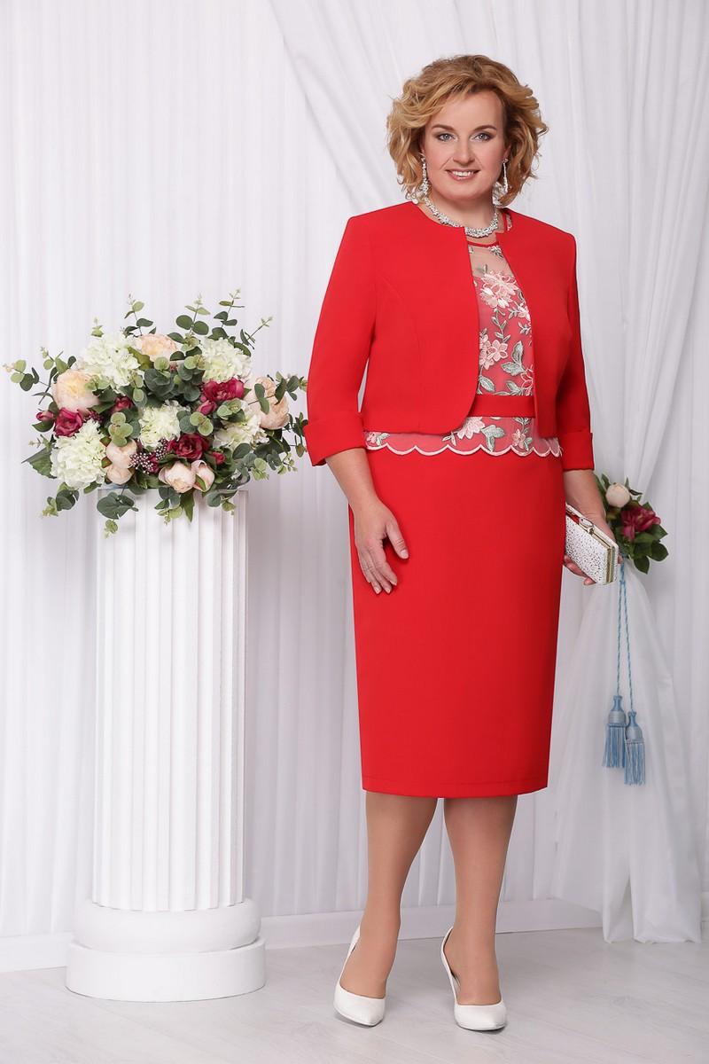 жакет,  платье Ninele 2101 красный