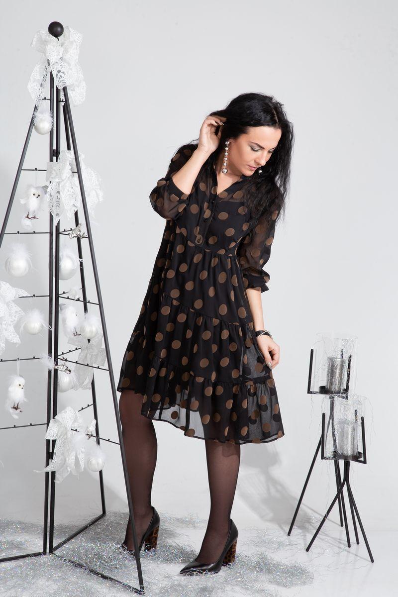 платье ElPaiz 483 кофе