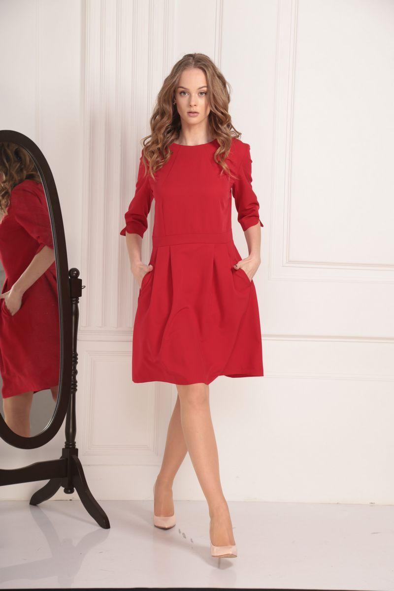 платье AMORI 9449 красный