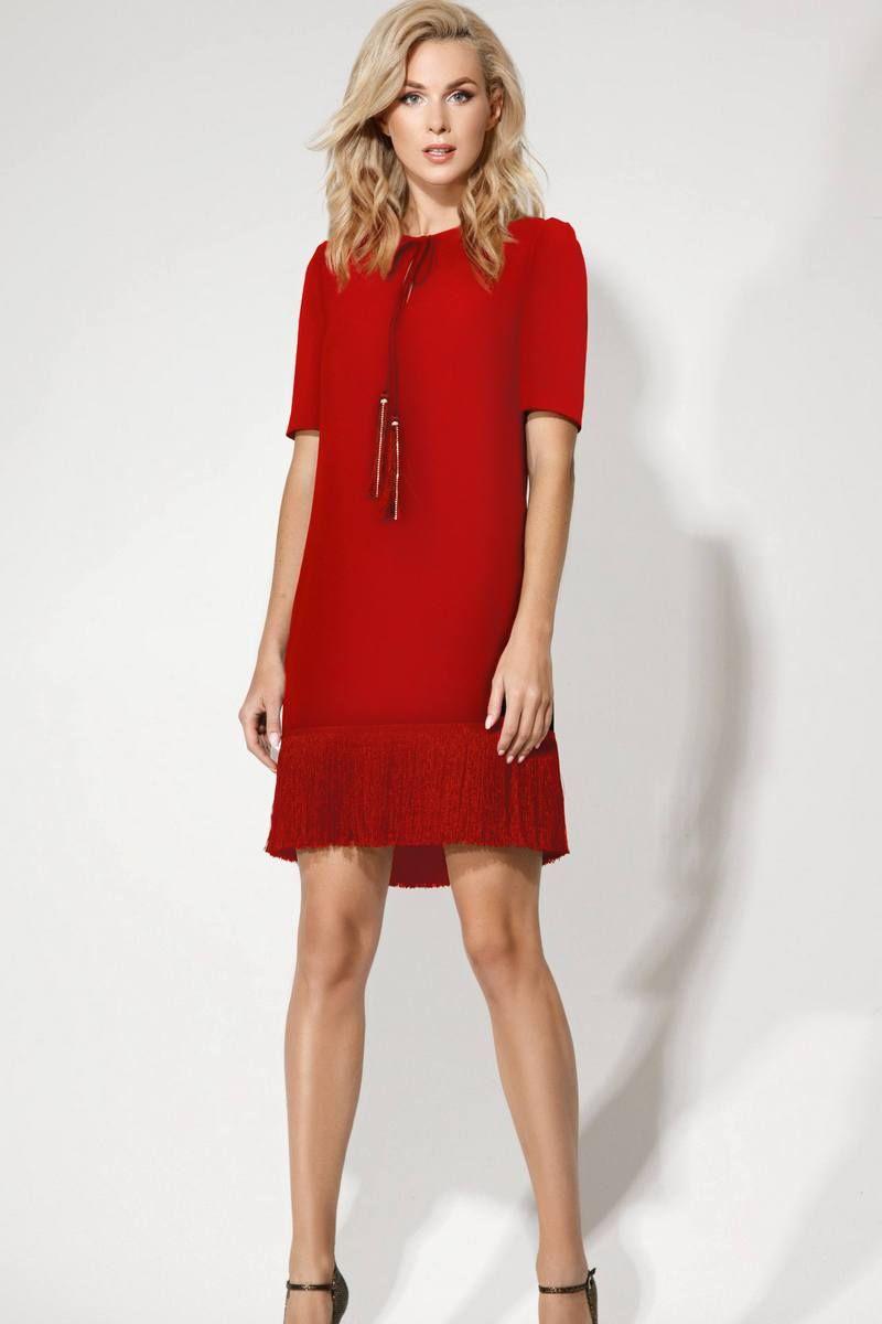 платье Vladini 4121 красный