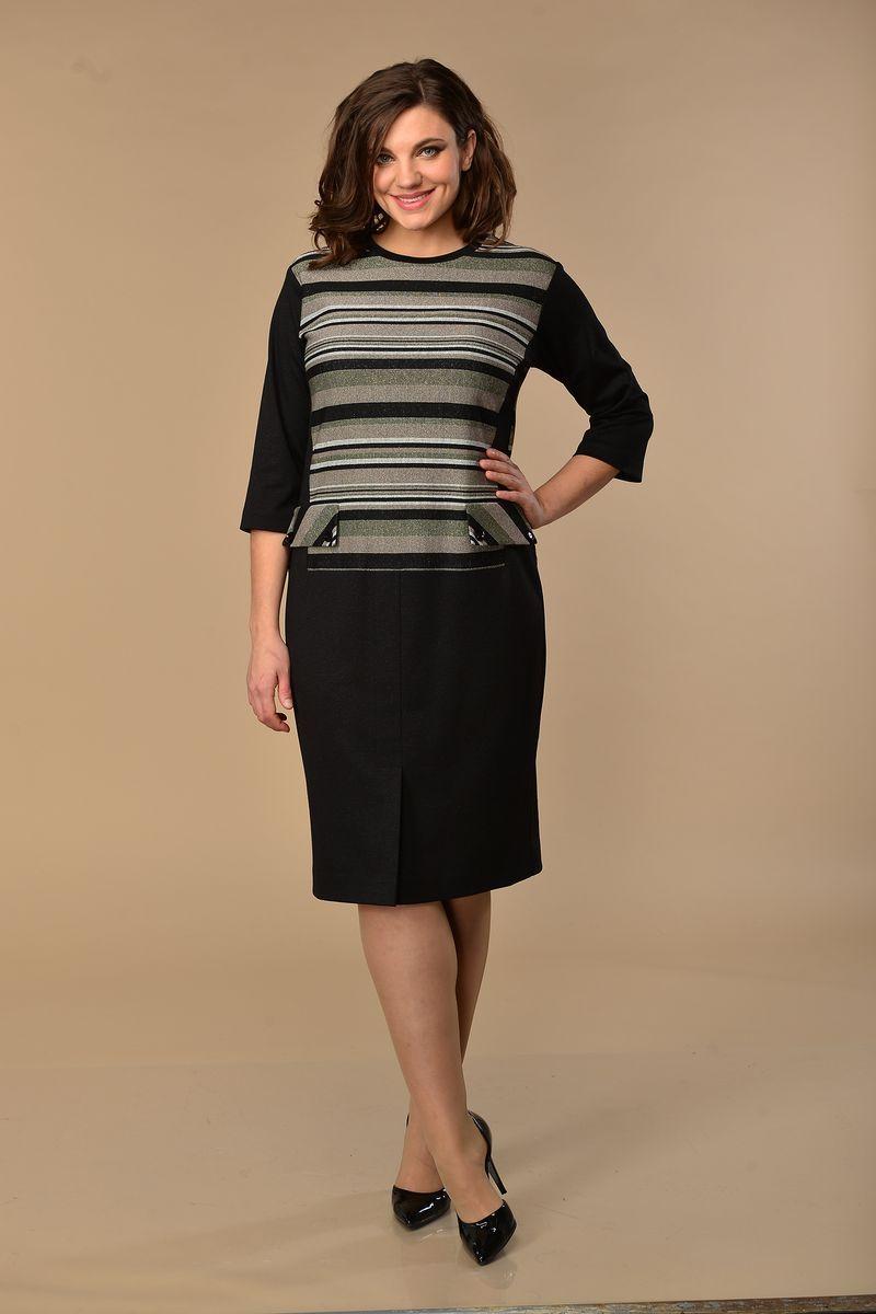 платье Lady Style Classic 2046 черно-зеленый