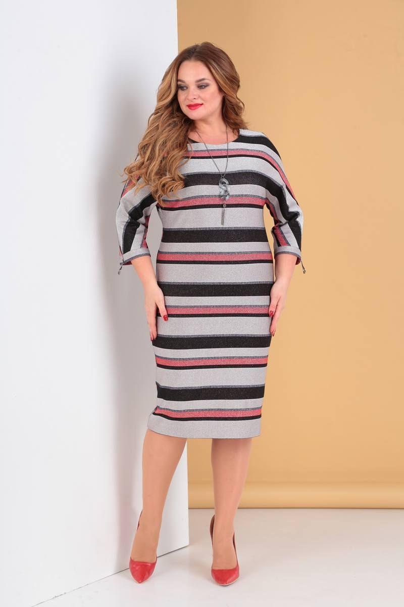 платье Moda Versal П1962 красная_полоска