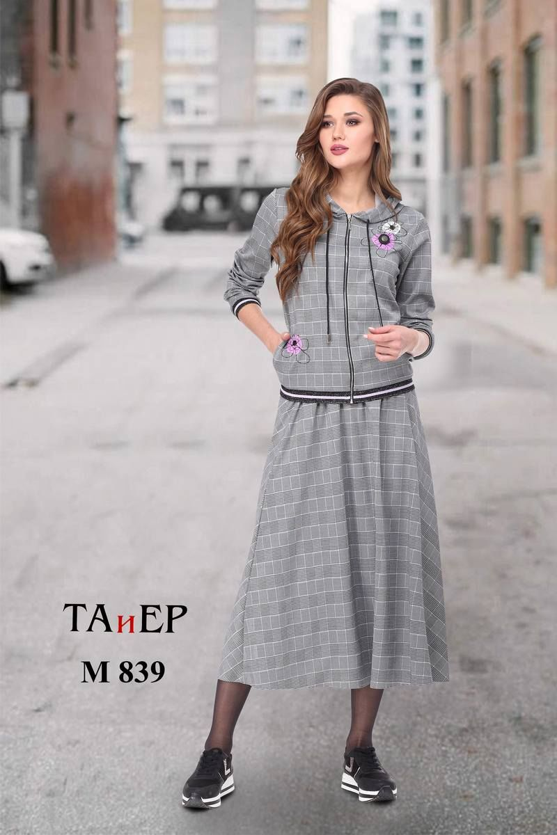 бомбер,  юбка TAiER 839