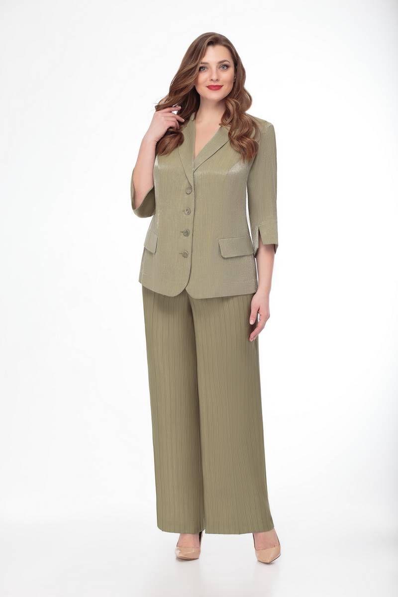 брюки,  жакет Gold Style 2310 св.хаки