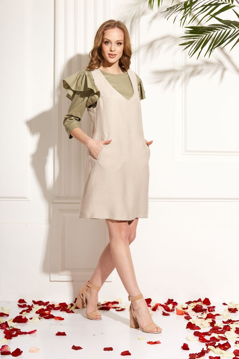 блуза AMORI 6212 оливка
