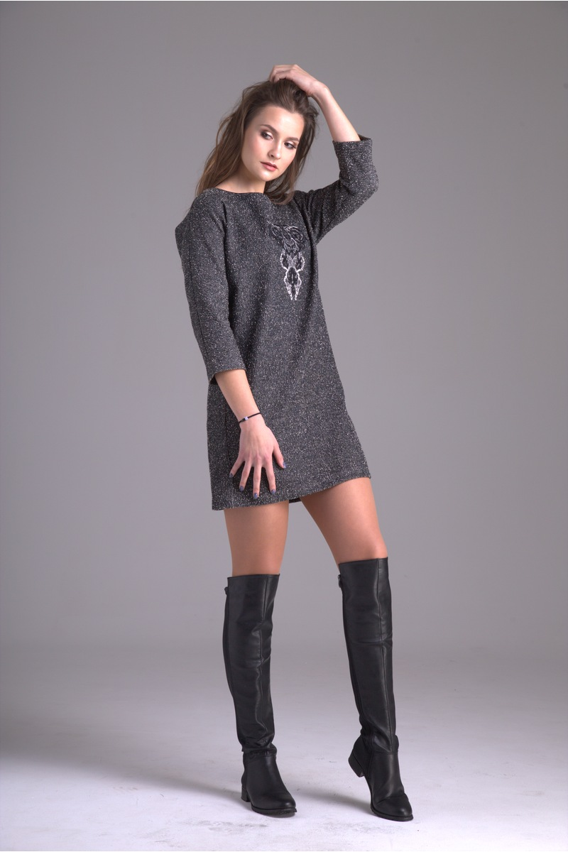 платье AMORI 9234 темно-серый