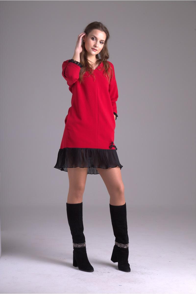 платье AMORI 9231 красный