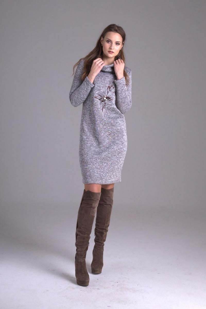 платье AMORI 9235 серый