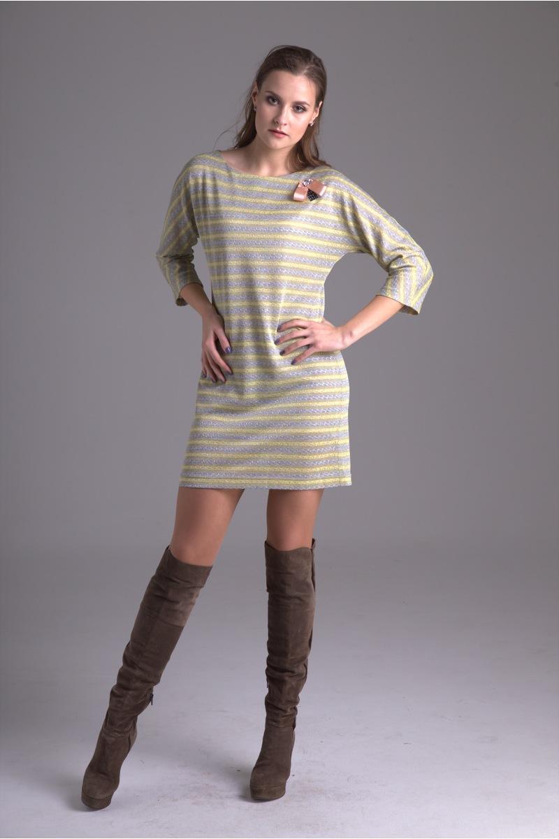 платье AMORI 9244 желт.полоска