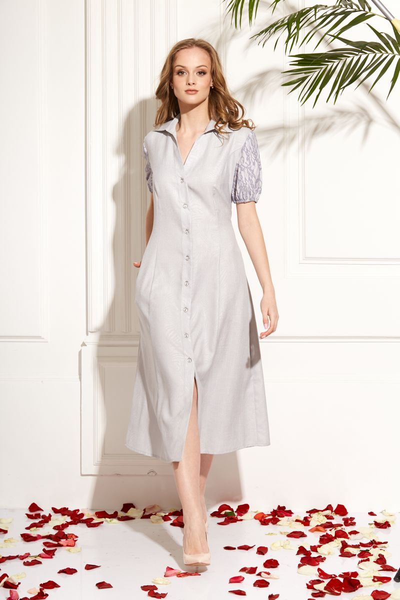 платье AMORI 9455 серый