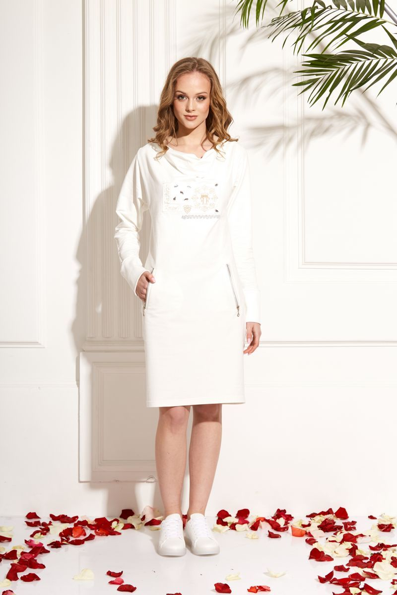платье AMORI 9471 молоко
