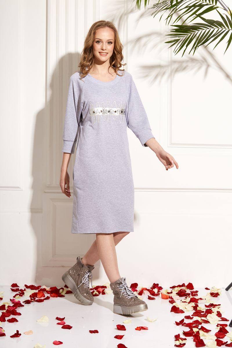 платье AMORI 9472 серый
