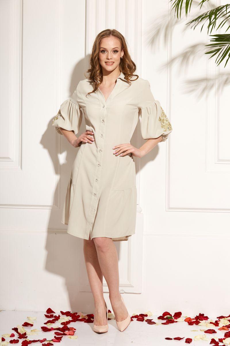 платье AMORI 9474 оливка