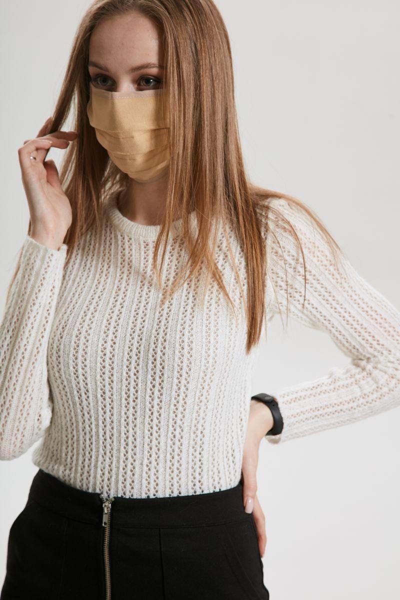 маска AMORI 1003/10шт. бежевый
