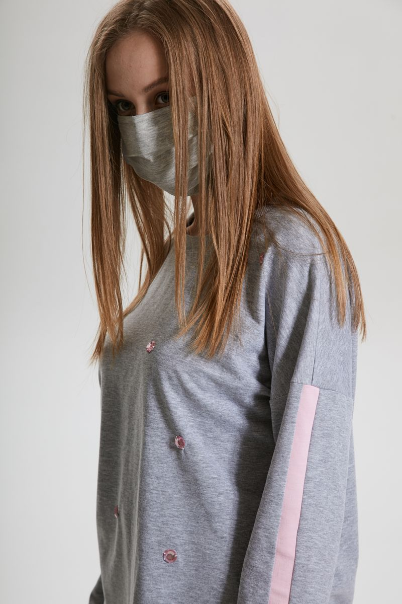 маска AMORI 1003/50шт. серый